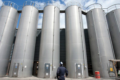 <strong>Silo's</strong><br><p>Meters hoge silo's bij Kivo Plastic Verpakkingen B.V. Volendam</p>